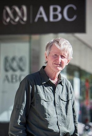 Sean Dorney at Brisbane ABC headquarters, August 2014 (Glenn Hunt)