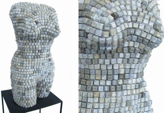 Cool stuff female torsos made from re cycled materials for Cool things to make out of recycled materials