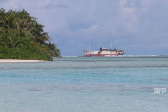 Fishing Boat at Poana Island, Manus