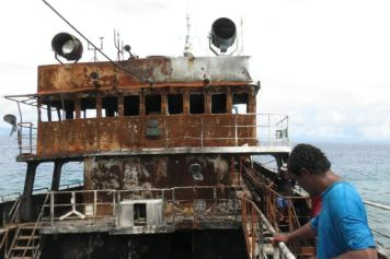 PNG investigation team on the boat.