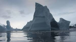 Giant melting ice